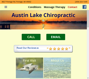 Austin Lake Chiropractic Website